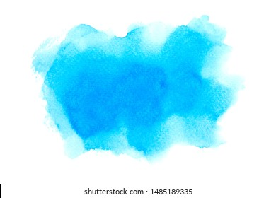 blue watercolor paper texture on white background