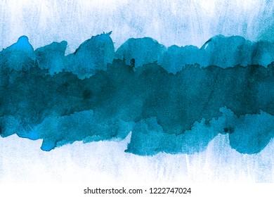 blue watercolor strip
