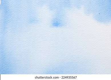 blue watercolour - textured  paper background for text
