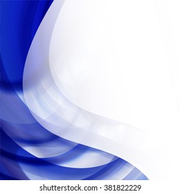 Blue Wave Lines Background