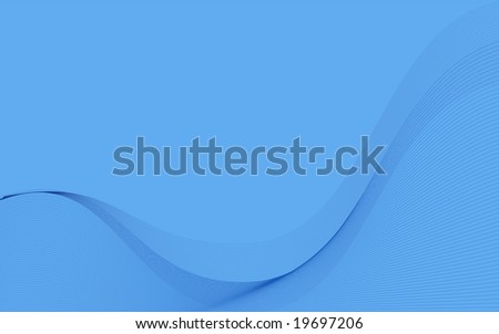 Blue Wavy Organic Wallpaper Suitable Business Stock
