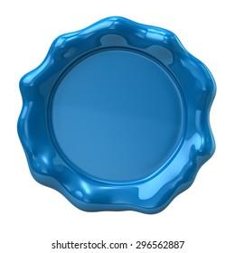 Blue wax seal