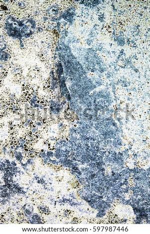 Blue White Abstract Macro Image Granite Stock Illustration Royalty