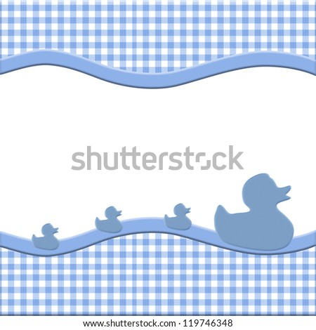 Blue White Baby Frame Ducks Your Stock Illustration 119746348 ...