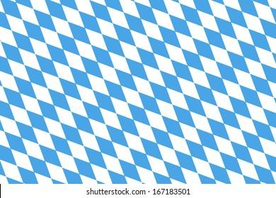 Blue White checked pattern for the bavarian flag or harlequin dress