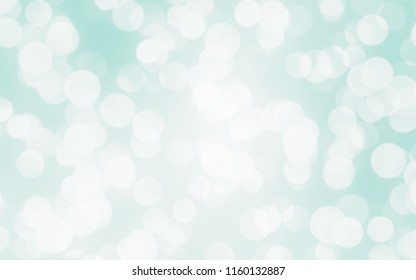 Blue white luxury focus blur background. Abstract bokeh soft light gradient for background and wallpaper Christmas.