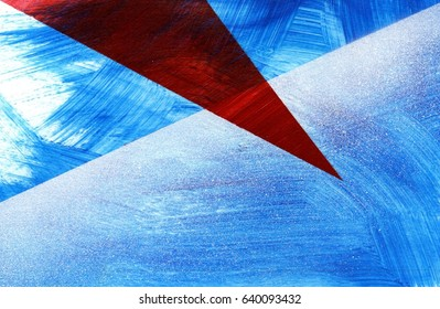 Blue white and red abtract background, suprematism inspired, brush strokes and spray paint