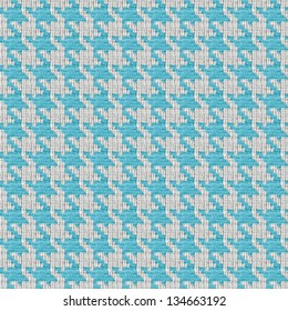 Blue and white seamless houndstooth pattern or texture that tiles seamlessly as a pattern.