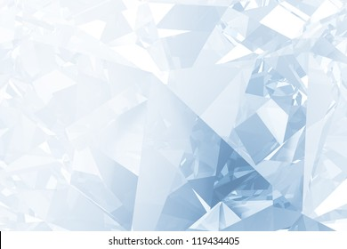 Blue winter facet background