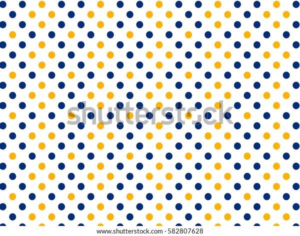 Blue yellow dots pattern