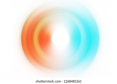 Blue yellow orange abstract background illustration. Blurred whirlpool artwork circular motion effect. Colorful ripple movement effect backdrop or wallpaper for your online graphic design project