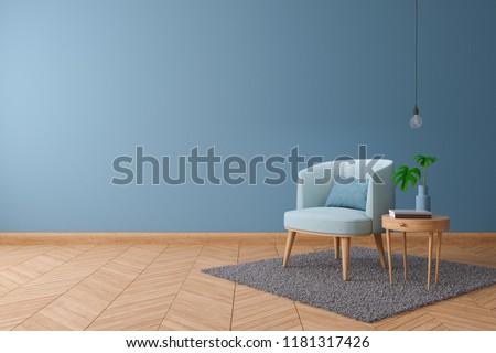Royalty Free Stock Illustration Of Blueprint Home Decor Concept Blue