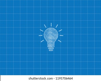 Blueprint of Only Bulb Lamp