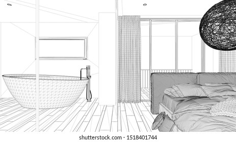 Bed Blueprint Images Stock Photos Vectors Shutterstock