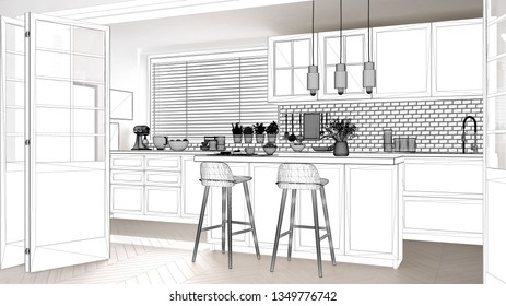 Kitchen Drawing Images Stock Photos Amp Vectors Shutterstock