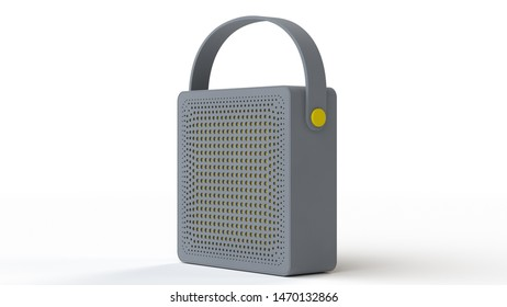 Bluetooth speaker front. 3D render