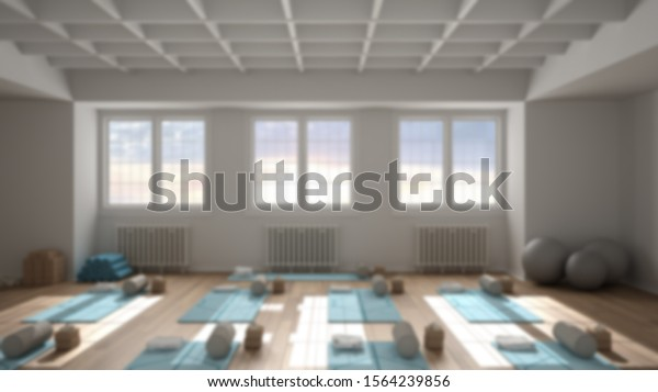 Blur Background Interior Design Empty Yoga Stock Illustration 1564239856
