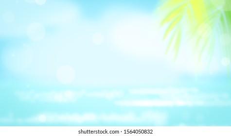 Blur beautiful nature sky summer beach nature background