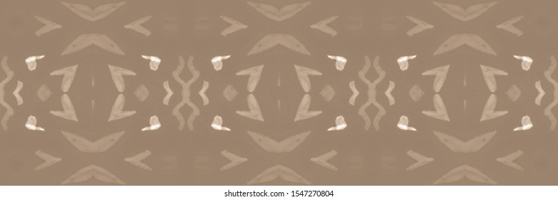 Blur Brown, Grey On Old Paper. Patchwork Seamless Pattern. Watercolor Wavy Background. Double Style. Abstract Scandinavian Ethnic Backdrop. Dip Dye.