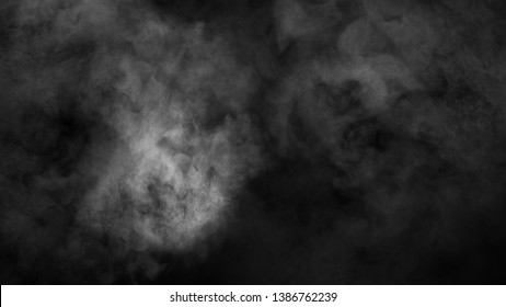Blur smoke on isolated black backgroind. Misty texture