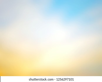 Blur summer beautiful nature sunset on tropical of abstract background. Vacation concept. Warm color style. Display your product - Templated use for advertising, web, cover, holiday, beauty, cosmetic
