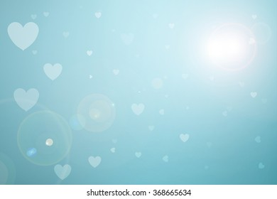 Blur Blue Sky Pastel Hearts Love Stock Illustration 511069057