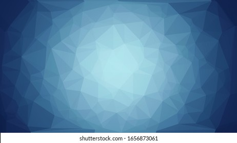 Blurred blue gradient background with complicated fade triangle texture