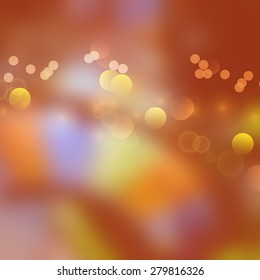 Blurred colorful background with bokeh effect.Gambling hall