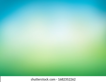 A blurred fresh spring, summer blue and green abstract background. Illustration.