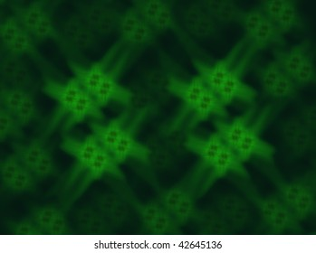 Blurred green crystals background
