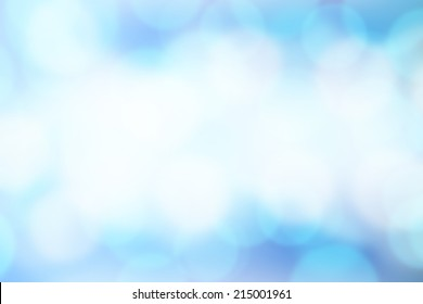 Blurred Lights on blue background.