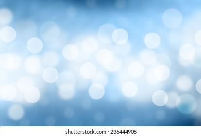 Blurred Lights on blue background or Lights on blue background.