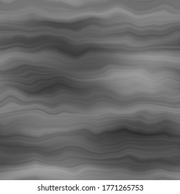 Blurry gradient watercolor silk paint texture background. Wavy irregular bleeding dye seamless pattern. Soft grey black ombre melange all over print. Variegated graphic marble backdrop.