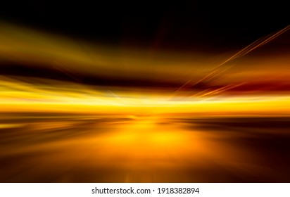 Blurry horizon lines, blurred illustration in 3D