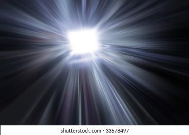 blurry render of laptop computer mind explosion