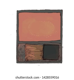 blush palette one coler orange
