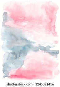 Blush pink grey texture Watercolor background