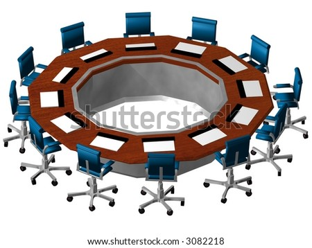 af3a268330a5b3 Boardroom 3 D On White Stock Illustration - Royalty Free Stock ...