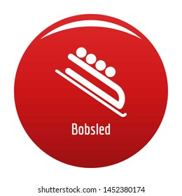 Bobsled icon. Simple illustration of bobsled icon for any design red