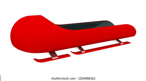 Bobsleigh Computer generated 3D illustration