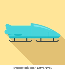 Bobsleigh icon. Flat illustration of bobsleigh icon for web design