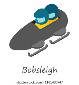 Bobsleigh icon. Isometric of bobsleigh icon for web design isolated on white background