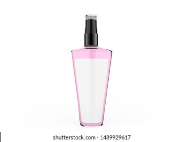 Body Mist Mock Up Template On Isolated White Background. Ready For Your Design. 3D Illustration.