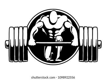 bodybuilding logo fitness gym, sport bar, logo, design