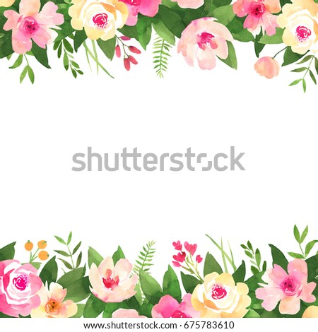 Bohemian Watercolor Flower Background Wedding Decoration