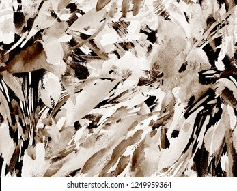 Boho kaleidoscope abstract seamless pattern. Indigo blue ethnic texture. Watercolor bohemian moroccan print. Swimwear watercolour abstract tie dye interior print. Brushstroke hand drawn backdrop