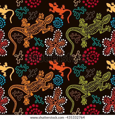 Boho style seamless pattern australian aboriginal stock vector.