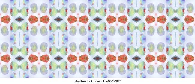 Boho Watercolor Pattern. Pastel, Blue and Pink Seamless Texture. Repeat Tie Dye Ornament. Ikat Asian Design. Abstract Shibori Design. Hand Drawn Boho Watercolor Pattern.