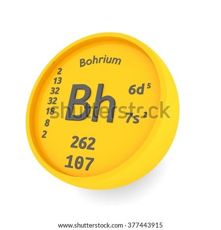 Bohrium Chemical Element Symbol Stock Illustration 377443915