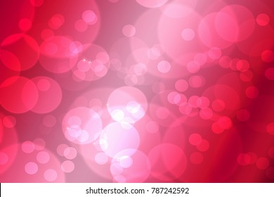 Bokeh in abstract red gradient background of valentine's day.Valentine's day decoration symbol for website design, happy new year, wallpaper, love heart wall map.